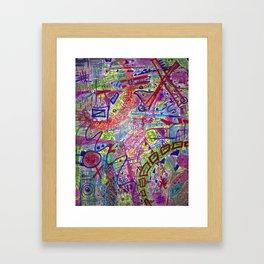 Brain Dump Framed Art Print