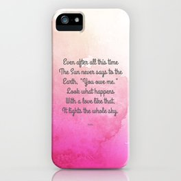 Even After All This Time, by Hafiz iPhone Case