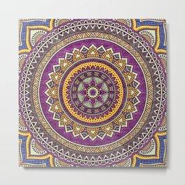 Hippie mandala 62 Metal Print
