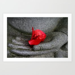 A Peace of Buddha in Photography Art Print