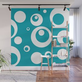 Circles Dots Bubbles :: Turquoise Wall Mural
