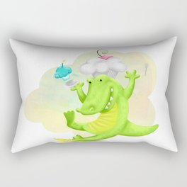 Slippery gator Rectangular Pillow