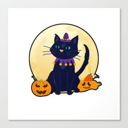 Halloween Cat furniture Design by diegoramonart Canvas Print