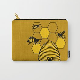 Bee happy in yellow Carry-All Pouch