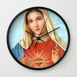 Virgin Mary Vintage Wall Clock