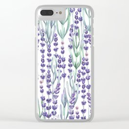 Watercolor Lavnder Clear iPhone Case