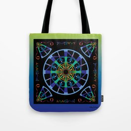Imagine from the Inside - Black/ Blue Green Tote Bag