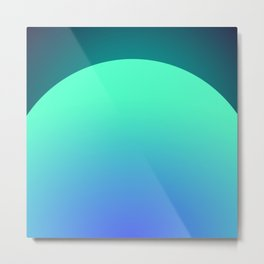 Sunset Teal Metal Print