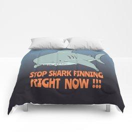 Stop shark finning Comforters