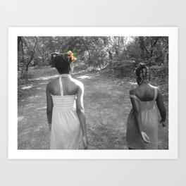 the girls Art Print