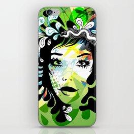 spring girl iPhone Skin