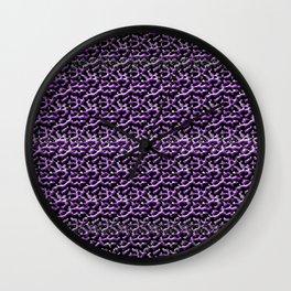 Purple Metal Wall Clock