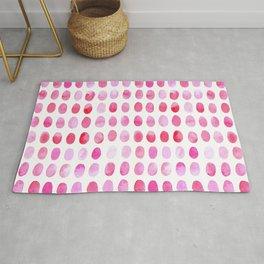 Pink ovals Rug