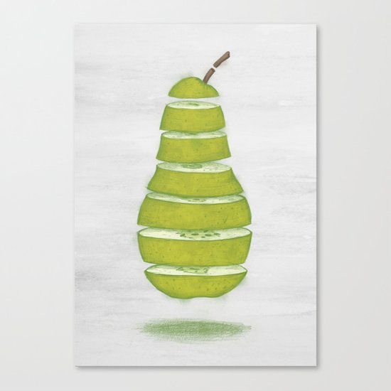 A Pear Apart Canvas Print
