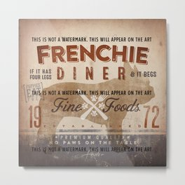 French Bulldog Frenchie Diner Kitchen Artwork by Stephen Fowler Metal Print