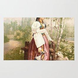 European Peasant girl Rug