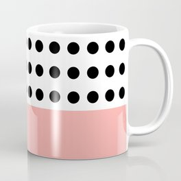 Polka Dot in monochrome with a touch of pink ;) Coffee Mug