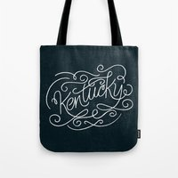 kentucky Tote Bags featuring KENTUCKY by Matthew Taylor Wilson
