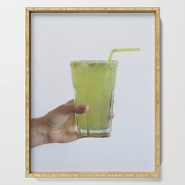 Glass of homemade cucumber lemonade Serving Tray