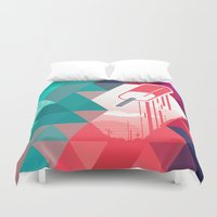 popsicle Duvet Covers featuring Watermelon Popsicle by Spires