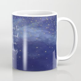 Second star to the right and straight on 'til morning - J.M. Barrie, Peter Pan Coffee Mug