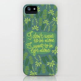 green left alone into the wild iPhone Case