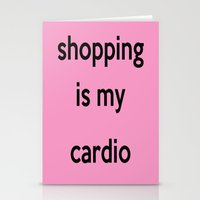 shopping Stationery Cards featuring SHOPPING by I Love Decor