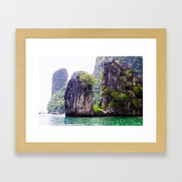 Cliffs in Thailand Framed Art Print