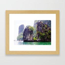 Cliffs in Thailand Framed Art Print
