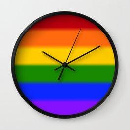 Gay Pride Flag Wall Clock