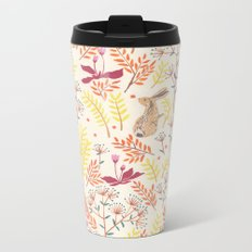 rabbits field Metal Travel Mug