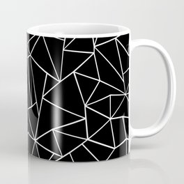 Abstraction Outline Black and White Coffee Mug