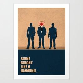 Lab No. 4 - Shine Bright Like A Diamond Corporate Startup Quotes Art Print