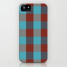 Pixel Plaid - Cranberry Bog iPhone (5, 5s) Slim Case