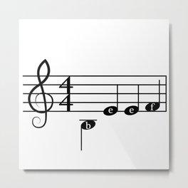Angry Music Metal Print