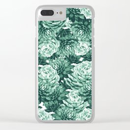 Succulents Pattern #1 #GreenVibes #decor #art #society6 Clear iPhone Case