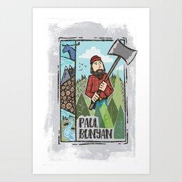 Paul Bunyan Poster Art Print