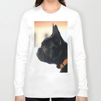 french bulldog Long Sleeve T-shirts featuring French Bulldog by Falko Follert Art-FF77