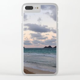 Beachside Mornings Clear iPhone Case