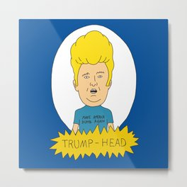 TRUMP-HEAD Metal Print