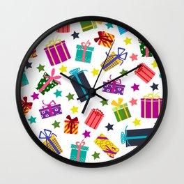 Presents Wall Clock