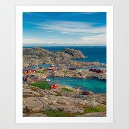 Sleepy Coastal Village Photo Art Print