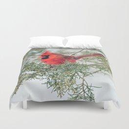 Cocky Cardinal Duvet Cover