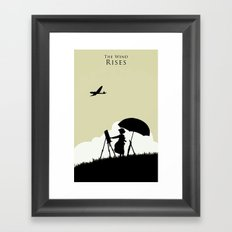 The wind rises Framed Art Print