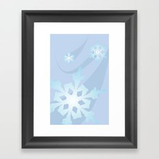 Winter Flakes Framed Art Print