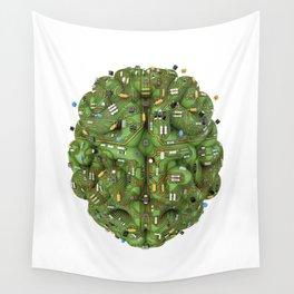 Circuit brain Wall Tapestry