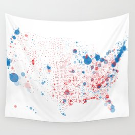Election Mapping 2008 Wall Tapestry