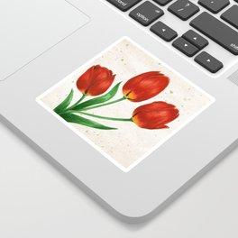 Red Tulips Sticker