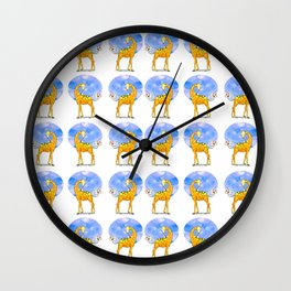 Dance of the Giraffes Wall Clock