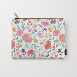 Peony Roses and Floral blooms Carry-All Pouch